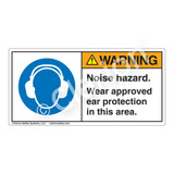 Warning/Noise Hazard Label (H6030-C9WH)