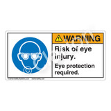Warning/Risk Of Eye Injury Label (H6031-NXWH)