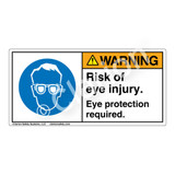 Warning/Risk Of Eye Injury Label (H6040-NXWH)