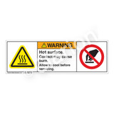 Warning/Hot Surface Label (H6043/6053-B)
