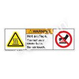 Warning/Hot Surface Label (H6043/6165-M)