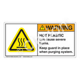 Warning/Hot Plastic-Ground Melt Label (H6043-348WH)