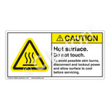 Caution/Hot Surface Label (H6043-BFCH)
