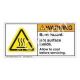 Warning/Burn Hazard Label (H6043-TMWH)