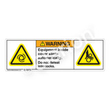 Warning/Equipment Inside Cover Label (H6045/1224-735WH)
