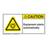 Caution/Equipment Starts Label (H6045-C47CH)