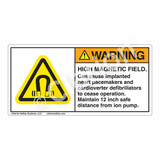 Warning/High Magnetic Field Label (H6048-AW9WH)