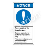 Notice/Access Door Interlocked Label (H6055-H17NV)