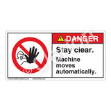 Danger/Stay Clear Label (H6062-86DH)