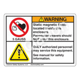 Warning/Static Magnetic Label (H6063/6014-MAWHP-)