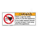Warning/Static Magnetic Fields Label (H6063-KJWH)