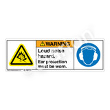 Warning/Loud Noise Hazard Label (H6104/6041-A)