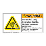 Warning/Ultraviolet Radiation Label (H6123-VKWH)