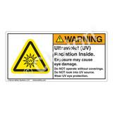 Warning/Ultraviolet Radiation Label (H6123-VKWH)
