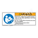 Warning/Read and Understand Manual Label (H6126-GPWHP-)