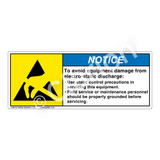 Notice/To Avoid Equipment Damage Label (H6131-HUNH)