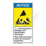 Notice/To Avoid Equipment Damage Label (H6131-HWNV)