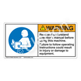 Warning/Read and Understand Manual Label (H6161-TUWH)