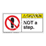 Caution/Not A Step Label (H6162-470CH)