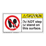 Caution/Do Not Step or Stand Label (H6163-CYCH)