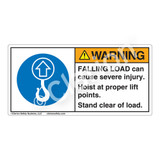 Warning/Falling Load Label (H6183-362WH)