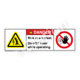 Danger/Arc Blast Risk Label (H6643/6062-W94DH)