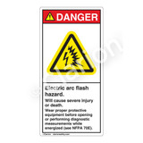 Danger/Electric Arc Flash Label (H6643-260DV)