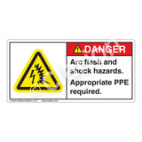 Danger/Arc Flash And Shock Label (H6643-261DH)