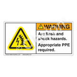 Warning/Arc Flash and Shock Label (H6643-261WH)