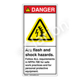 Danger/Arc Flash And Shock Label (H6643-262DV)