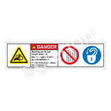 Danger/Moving Parts Can Crush Label (HMS-02DHP-)