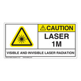 Caution/Visible & Invis Laser Radiation Class 1MLabel (IEC1010-)