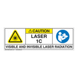 Caution/Visible & Invis Laser Radiation Class 1CLabel (IEC1013-)