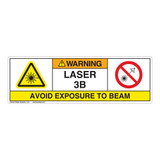 Warning/Laser Radiation Class 3B Label (IEC3007-H)