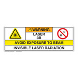 Warning/Invisible Laser Radiation Class 3B Label (IEC3008-H)