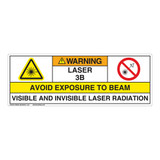 Warning/Visible & Invis Laser Radiation Class 3BLabel (IEC3009-)