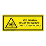 Laser Radiation Class 1C Label (IEC-6003-E1C-H)