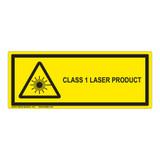 Class 1 Laser Product Label (IEC-6003-E62-H)