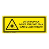 Laser Radiation Class 2 Label (IEC-6003-E64-H)