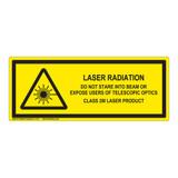 Laser Radiation Class 2M Label (IEC-6003-E65-H)