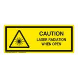 Caution/Laser Radiation Class 1 Label (IEC-6003-E72-H)
