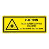 Caution Class 2 Laser Label (IEC-6003-E74-H)