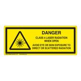 Danger/Class 4 Laser Label (IEC-6003-E79-H)