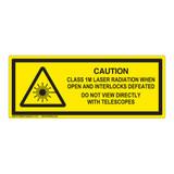 Caution/Class 1M Laser Label (IEC-6003-E81-H)