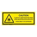 Caution/Class 3R Laser Label (IEC-6003-E84-H)