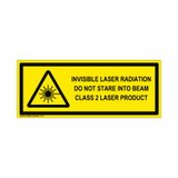 Invisible Laser Radiation Class 2 Label (IEC-6003-E89-H)