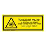 Invisible Laser Radiation Class 2M Label (IEC-6003-E90-H)