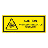 Caution/Invisible Laser Radiation Class 1Label (IEC-6003-E95-)