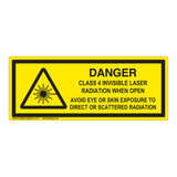 Danger/Class 4 Invisible Laser Label (IEC-6003-F03-H)