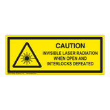 Caution/Invisible Laser Class 1 Label (IEC-6003-F04-H)